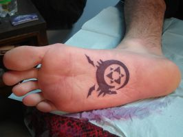 BOTTOM OF FOOT TATTOO by inkaholick
