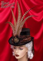 Steampunk Velvet Top Hat by ArtOfAdornment