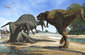 Spinosaurs (The passage is denied) by atrox1