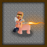 Minecraft Rocket Pig by GoldSolace