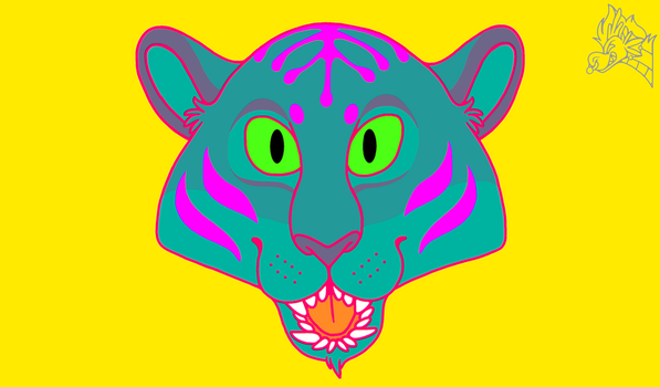 Psychedelic Tiger by Artistdragon