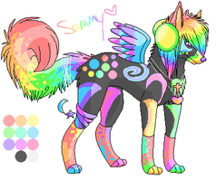 Sammy The Sparkledog by LizzyTheFox
