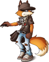 An urban fox! by mARTz-9o