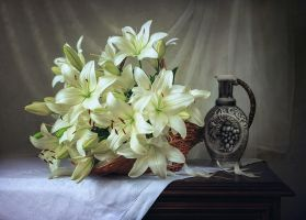 Still life with lilies by Daykiney