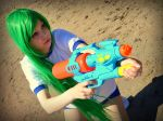 Serious water gun fight - Higurashi - Shion by ViikateFretti