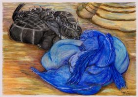 After meal Thoron and Saphira by SSsilver-c