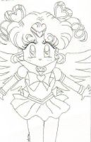 Sailor Moon: Sailor Chibi Chibi Moon -line art- by mscherbear