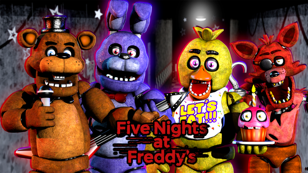 We are all friends here at Freddy Fazbear's pizza! by AndyDatRaginPyro
