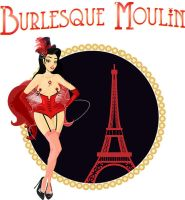 Logo Burlesque Moulin Paris by Auranim