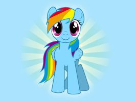 Rainbow Dash Wallpaper by chickenmobile
