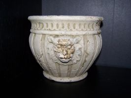 Lion Head Vase by seiyastock