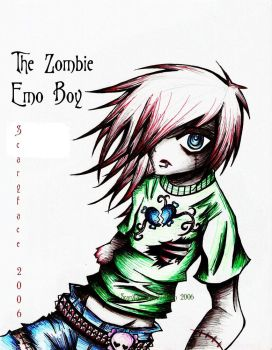 ::The Zombie Emo Boy:: by ScaryFace