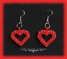Two hearts hanging around by Cayca
