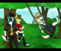 Day at the park by xWolfPrincex