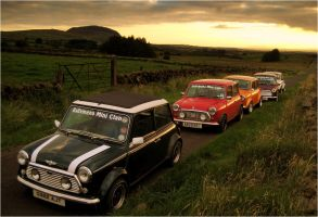 Mini convoy, sunset + Slemish by younghappy