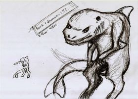 sketch shark dinosaur wtf by Draconica5