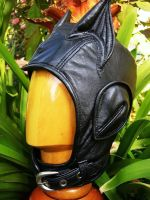 Leather Catwoman Aviator Hat by LeatherHead72