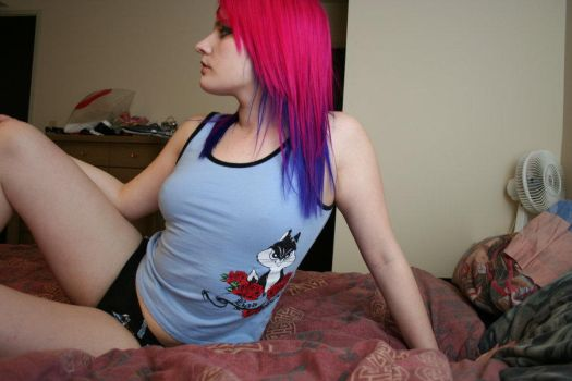 Pink and Blue Hair by Colorful-Ayako