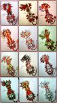Keyblade Wallpaper in red by ExusiaSword