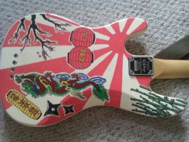 Japanese Bass Guitar Design by lazy-procrastinator