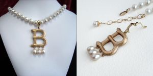 Anne Boleyn's B Necklace by Gweyeni
