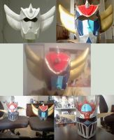 Grendizer and Mazinger Cosplay Helms by Sean-Loco-ODonnell