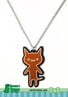 Gingerbread Cat Necklace by brandimillerart