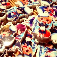 Iwatobi Swim club Keychains ! by Squ-chan