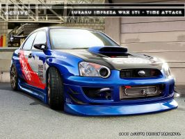 Subaru Impreza STI Time Attack by Active-Design