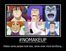 One Piece characters without makeup... by Vivi1995