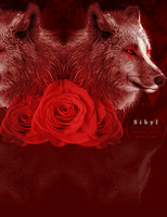 Sibyl Table: Red Roses by cryingrobot