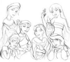 Non-Disney Gals by artists-bloq