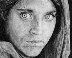Afghan girl by Andela1998