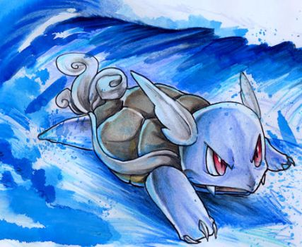 Surfing Wartortle by DestroyedSteak