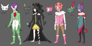 PR Masquerade Outfits by Deer-Head
