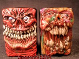 Necro Rot Zippo By Undead Ed Flesh Style compare by Undead-Art