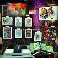 My Booth At The RAW Artists: Marvel Show by TB8S