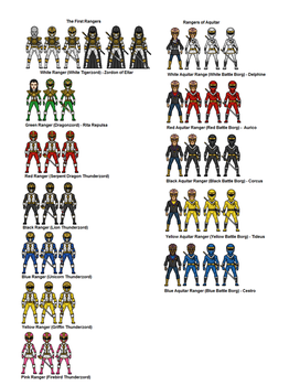 Other Power Rangers by dudebrah