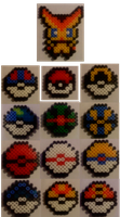 Pokemon Bead Sprites by FelineFanatic