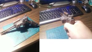 Steampunk industrial punk gun by Waileem