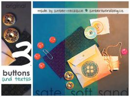 Buttons and textils by amber-necklace