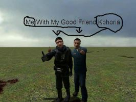 Me With my Good Friend Kphoria by HellGman666T-3000