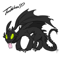 Just A Toothless by DeathDragon13