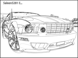 Saleen Mustang Outline by maximesz