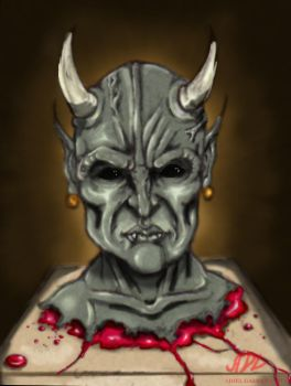demon head painted by 71ADL17