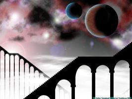 Stairs to the stars WP by Warran