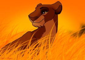 A queen in the long grass by RIOPerla