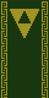 Legend of Zelda Scarf Pattern (double knitting) by Yodaman921