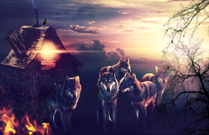 Fire, House and Wolves by CoolDes