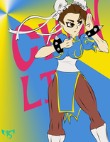 Chun Li(Unshaded) by milz4897